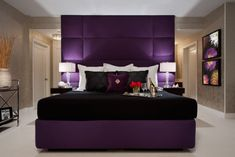 Surprising Ideas: Bedroom Remodel Ideas Loft mobile home master bedroom remodel.Old Bedroom Remodel House kids bedroom remodel children. Royal Purple Bedrooms, Purple Master Bedroom, Purple Rooms, Small Room Bedroom, Master Bedroom Design, Bedroom Wall, Bedroom Ideas, Bedroom Photos, Purple Bedroom Design