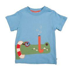 Frugi T-Shirts - Frugi Bug Detective Applique T-Shirt - Bug Top