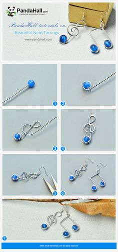 # PandaHall tutorials on Beautiful Note Earrings # beautiful - Diyideasdecoration.club - # PandaHall tutorials on Beautiful Note Earrings … - Diy Jewelry Rings, Diy Jewelry To Sell, Wire Jewelry Designs, Handmade Wire Jewelry, Jewelry Making Tutorials, Jewelry Trends, Jewelry Art, Beaded Jewelry, Fashion Jewelry