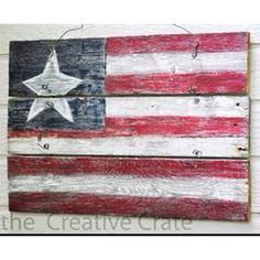 Flag made from pallet wood