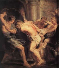 Peter Paul Rubens (1577-1640) The Flagellation of Christ Oil on panel