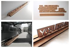 """® Nat Soontornvinate   Signage design- """"Soulitude"""" Inspired by the Magnetic Poetry Kit."""