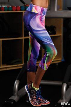 Sublimation Workout Capri Pants - Aurora