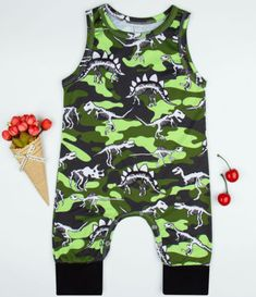 Rompers Intelligent New Baby Rompers Newborn Infant Baby Boy Girl Green Sleeveless Romper Jumpsuit Outfits Sunsuit Clothes Autumn Winter Outfit Sets Products Are Sold Without Limitations