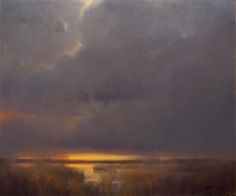 "Marc Hanson ~ ""Dusk"" ~ 20"" x 24"" Oil ~ $3,500<br />In the ""Dan Beck, Peter Fiore & Marc Hanson Show"" October 1-31"