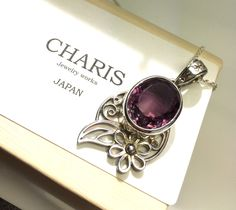 """Etsy のamethyst,gemstone,pendant,and,silver,necklace,""""one of a kind jewelry"""",gemstone,pendant,necklace,japan,handmade,jewelry,necklace,special(ショップ名:CHARISJewelry)"""