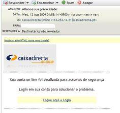 Fraud email example!  Exemplo de mensagem de correio electrónico fraudulenta!