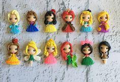 Set de princesas 6 edición polímero arcilla por KellyBowieDesign