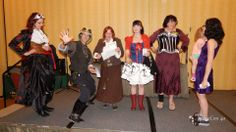 I won the steampunk costume contest at Leprecon 2014.  A gift certificate for $50 to Trash City Beads and 2 free passes to Phoenix Fearcon!!!  And look!  She's totally checking out my butt!