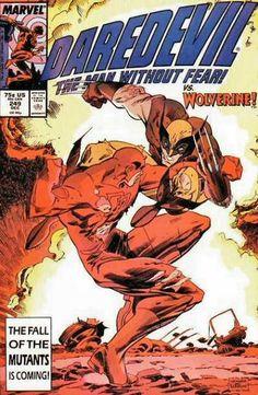 Daredevil 249 Vs. Wolverine Marvel comics group
