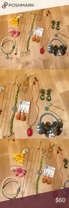Variety bundle of Accessories and Costume Jewelry 💕💕💕💕💕💕💕💕💕💕💕💕💕💕💕💕💕💕💕  A fun variety bundle of various jewelry, costume jewelry and accessories😍😍😍 Some pieces are new, some items are gently used, overall everything is in great condition! Items purchased in many different places such as: Anthropologie, Anne Taylor, Etsy, Farmers Market, Chan Luu, Target, Top Shop and Mint Apple. Please ask any questions about specific pieces if interested.  Smoke free, pet free home…