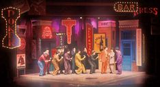 guys and dolls scenic design - Google Search