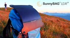 Портативное зарядное на солнечной батарее LEAF+ от SunnyBag (видео)