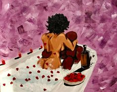 Image of love Black Art Sexy Black Art, Black Girl Art, Art Girl, African American Art, African Art, Arte Black, Black Art Pictures, Drawn Art, Black Artwork