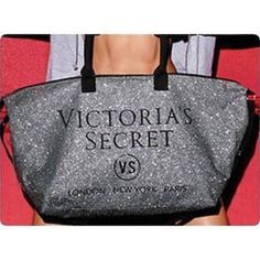 NWOT Victoria's Secret Limited Edition Silver Tote Let This Gorgeous VS Glittery Tote Help You Escape Quickly To Your Perfect Weekend Getaway Destination! Limited Edition. No trades. New. Never Used. Victoria's Secret Bags Totes