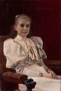 Gustav Klimt - Seated Young Girl - Google Art Project (Leopold Museum (Die Sammlung Leopold) Vienna)