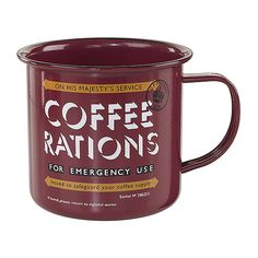 Enamel+Mug+-+Coffee+Rations