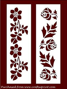 FLORAL BOOKMARKS PDF on Craftsuprint designed by Apetroae Stefan - In pdf format - Now available for download!