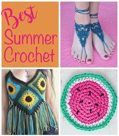 Best Summer Crochet Projects - Crochet 365 Knit Too Diy Crochet Halter Top, Crochet Top, Crochet Hats, Crochet Projects, Free Pattern, Crochet Necklace, Knitting, Creative, Crocheting