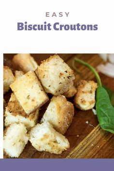 Biscuit Croutons are perfect little bites to add to a salad. We take leftover biscuits and reinvent them into something magnificent. Just a few ingredients to take something great and make it better! #croutons #biscuits #leftoverbread #biscuitcroutons Easy Bread Recipes, Baking Recipes, Southern Recipes, Southern Food, Homemade Chips, How To Make Biscuits, Gluten Free Pasta, Crab Salad, Spinach Salad