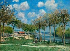 ": ""Alfred Sisley, The Seine at Bougival, 1876 #alfred #sisley #alfredsisley #seine #seineriver…"""