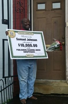 Congratulations to Samuel Johnson of Washington, DC! He got a very special visit from the Prize Patrol today when they awarded him with a $10,000 big check!