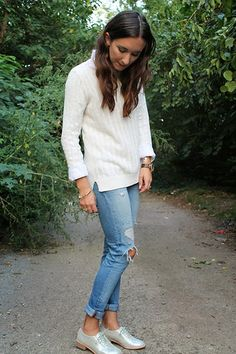 White-on-white fall fashion
