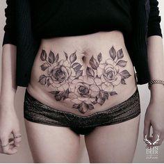 Tatuaje para ocultar estrías
