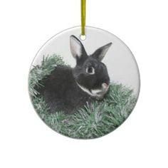 Hoppy Holidays Christmas Tree Ornaments Homemade Christmas Decorations, Christmas Tree Ornaments, Christmas Holidays, Christmas Crafts, Bumper Stickers, Holiday Gifts, Presents, Animals, Ideas