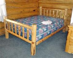 Amish Made Montana Log Furniture Queen Bed