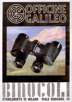 Pubblicità originale anni 40 Officine Galileo binocoli advert werbung reklame