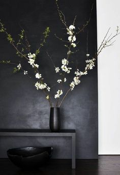 Cherry branches as decoration