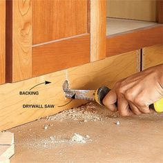 How to Build Under-Cabinet Drawers & Increase Kitchen Storage - Step by Step: The Family Handyman Kitchen Redo, New Kitchen, Kitchen Remodel, Kitchen Ideas, Kitchen Stuff, Maple Kitchen, Kitchen Updates, Farmhouse Remodel, Kitchen Designs