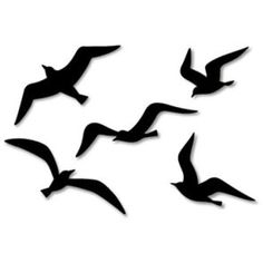 Wall Decorations: Sea-gull (Black),Home and Living,Paper Craft,sea gull,Silhouette,decoration,sea gull,black