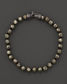 Scott Kay Faceted Pyrite Beaded Bracelet