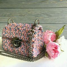 Crochet T Shirts, Crochet Tote, Crochet Handbags, Yarn Bag, Diy Tote Bag, Diy Handbag, Crochet Teddy, Knitting Accessories, Knitted Bags