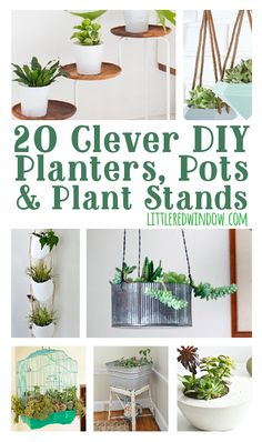 Diy planters 20 amazing ideas you can make yourself planters 20 clever diy planters pots plant stands for your garden or inside solutioingenieria Image collections