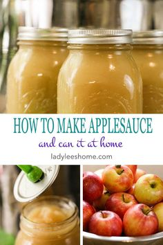 How to make applesauce and can it. It is easy to make a large batch of applesauce and have a homemade ready snack at any time. This applesauce has no sugar added to it, just apples. The process of canning it is simple, just a waterbath. Let me show you st Applesauce Recipes Canning, Home Canning Recipes, Jam Recipes, Apple Recipes, Apple Sauce Canning, Canning Soup, Canning Pears, Easy Canning, Canning Salsa