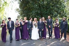 Purple and pink and succulents wedding details - Succulents - wedding bouquet - details - purple, pink, red, blue - design - wedding invitations - ring shot - brumby hall and gardens wedding - beautiful - outdoor ceremony with Leland trees - garden wedding - cake - long plum and purple bridemaids dresses