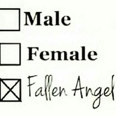 I'm a fallen angel and I'm proud