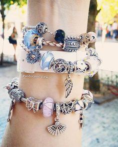 My lovely pastels...#pandora #pandoralover #pandorajewelry #pandorafans…