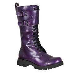 Womens PURPLE Combat Boots @ SinisterSoles.com LOVE THESE