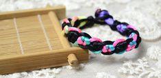 Macrame Bracelet Patterns-Making Chinese Snake Knot Bracelet with Colorful Nylon Thread