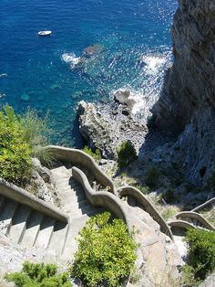 Steps to the Sea, Positano, Italy
