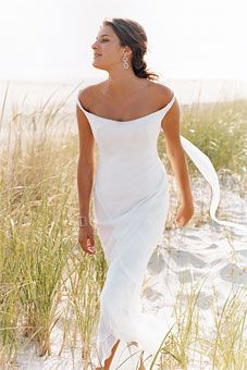 No train- lace accents- some shoulder comfort. - Wedding Dresses ...