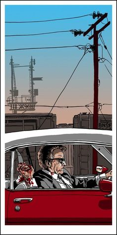 Exclusive: The Films of Quentin Tarantino Art Series by Tim Doyle Part 2 – /Film Pulp Fiction, Dog Poster, Movie Poster Art, La Famille Tenenbaum, Quentin Tarantino Films, Don Corleone, Death Proof, Digital Film, Alternative Movie Posters