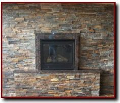 want to do some kind of stone veneer on wall behind woodstove