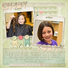 Layout Of The Day | Digital Scrapbooking at Digital Scrapbook Place - Part 2 Locks of love
