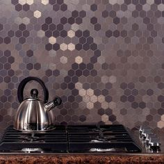 Aspect Honeycomb Matted 4 in. x 12 in. Metal Decorative Tile Backsplash in Brushed Stainless (1 sq. ft.) - A98-50 - The Home Depot