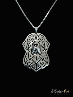 An overwhelming Newfoundland dog pendant & necklace, designed by Amit Eshel. This delicate fine jewelry will Compliment your outfit and keep Silver Pendant Necklace, Sterling Silver Pendants, Terra Nova, Big Friends, Dog Jewelry, Fine Jewelry, Jewellery, Dog Love, Dog Tag Necklace
